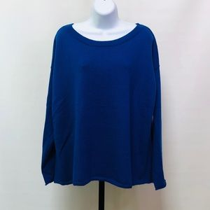 Eileen Fisher Royal Blue Wool LS Sweater